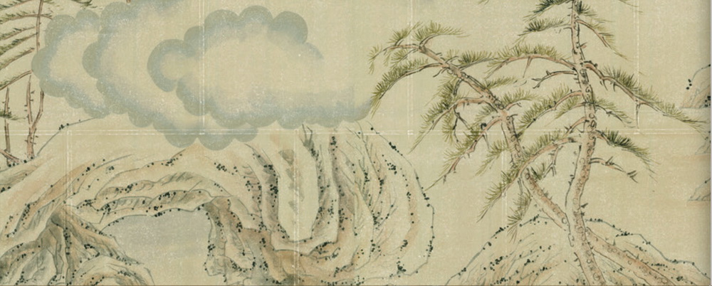 Lushan Mountain Silk Wallpaper